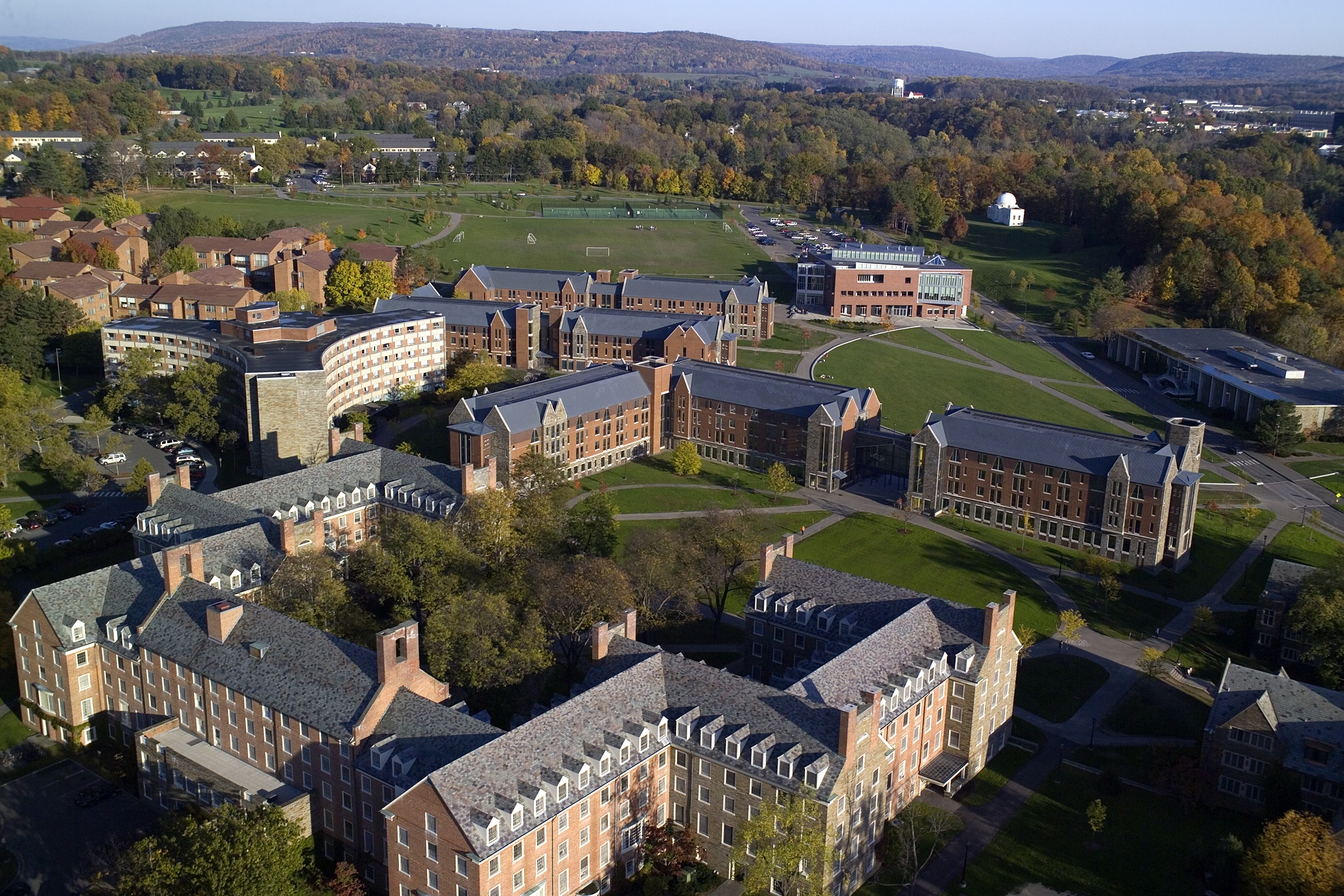 Aerial view of Cornell's North Campus